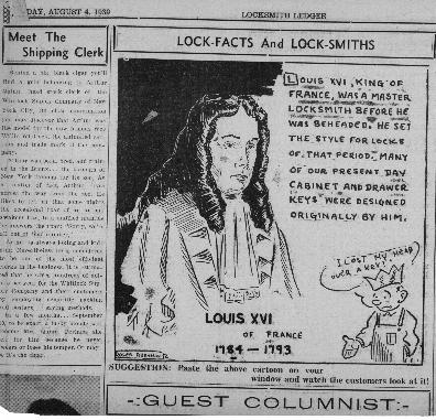 {Cartoon Locksmith Ledger Aug. 4 1939}